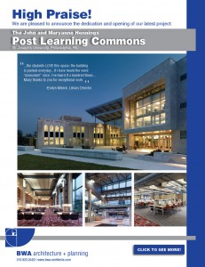 BWA is proud to present the Post Learning Commons at St. Joseph's University!