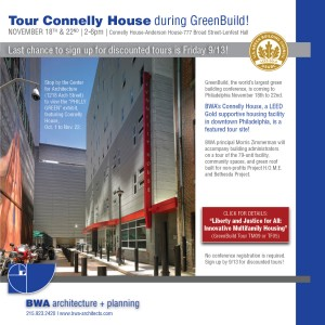 Sign up to tour Connelly House during Greenbuild - Nov. 18th and 22nd!